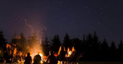 Camp,Fire,In,Summer